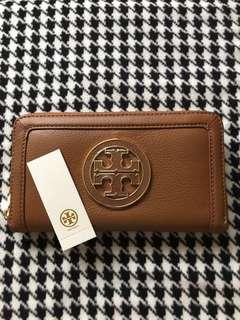 Tory Burch Tan ZipAround Wallet
