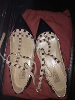 Used Valentino Caged Flats 37. 5
