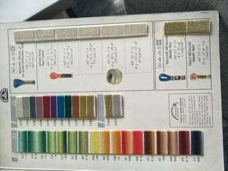 DMC cross stitch thread (per colour)