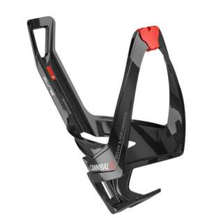 Elite Cannibal XC Bottle Cage - Glossy Black / Red