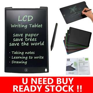 """12"""" Drawing Toys LCD Writing Tablet Paperless Handwriting Pad Kids Writing Board"""