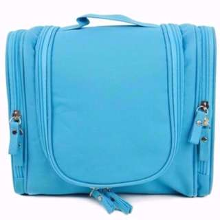 Travel Make Up Luggage Organiser Storage Pouch Bag Cosmetic Makeup Toiletries (BLUE ONLY)