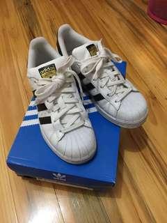 Adidas Superstars White and Black Size 4/6