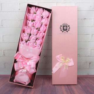 Free shipping Rose Soap Flower Bouquet with gift anniversary valentines party love present gift