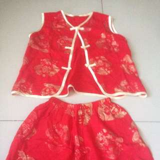 Chinese, Lunar Year Costume Size 3-5 Tahun