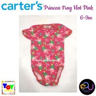 Carter's Princess Frog Hot Pink Bodysuit 6-9m