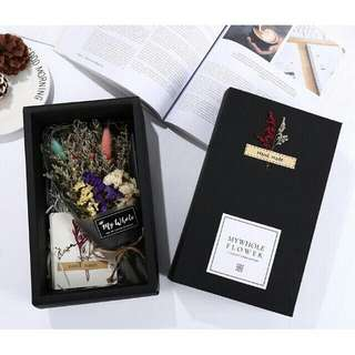 Free shipping dry dried flower Bouquet valentines anniversary present gift love with gift box