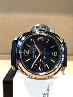 "Authentic Panerai Luminor Marina Pam 631 ""Logo"" Winding Steel Casing Black Dial Leather ( BNIB )"