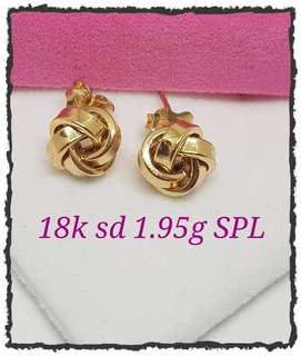 Pure 18k saudi gold earings