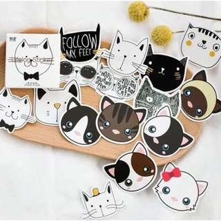 Cute Cats Stickers 45 pieces