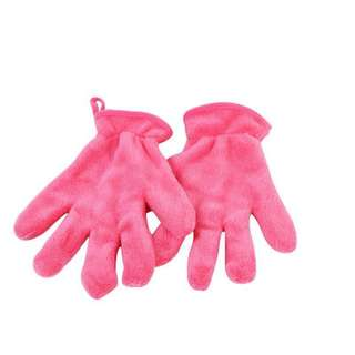 🆕 1 Pc Pink Hair Drying Gloves