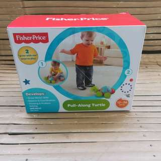 brandnew sealed fisher price pull along turtle toy
