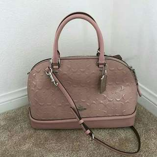 Coach SIG DBS EMB Sierra Satchel with Long Strap