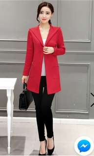 RED LONG CARDIGAN BRAND NEW