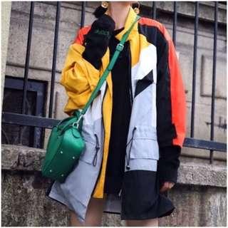Color windbreaker jacket