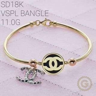 Pure gold, branded bracelet