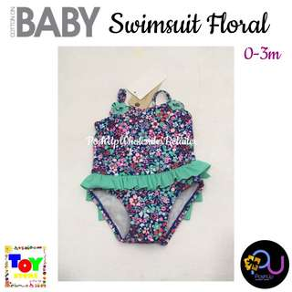 Cotton On Baby Swimsuit Floral 0-3m