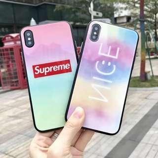 Iphone case Supreme/nice鋼化手機硬殼