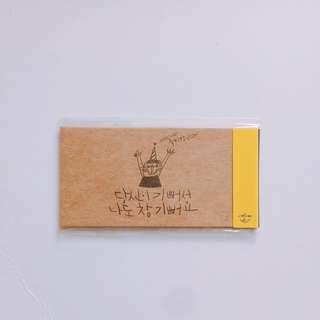 韓國姆明阿美創意牛皮小紙卡(5張)