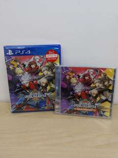 (Brand New) PS4 Blazblue Cross Tag Battle with Bonus Original Soundtrack / R3