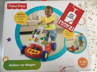 NEW Fisher price - walker to wagon