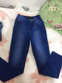 Deep Blue High Waisted Denim Jeans