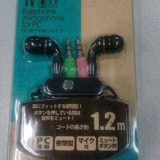 PC Earphone/Microphone