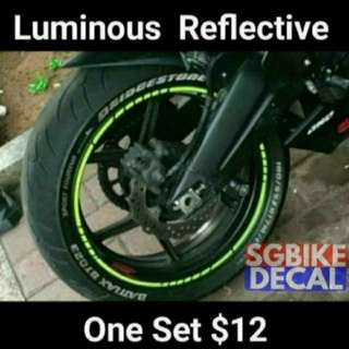 Neon Reflective Rim sticker