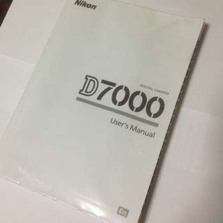 (FREE NM) D7000 Original User's Manual (English)