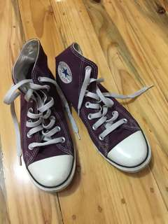 Converse High Rise Dark Purple Plum Sneakers
