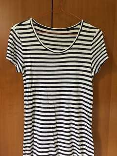 Uniqlo striped tshirt dress