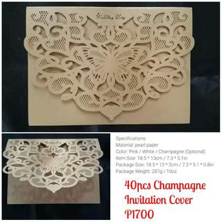 Onhand Lasercut invitation cover
