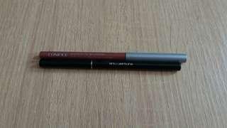 1.clinique lip liner 2.shu uemura eyeliner