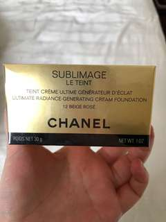 BNIB Chanel Sublimage Le Teint Foundation (12 Beige Rose)