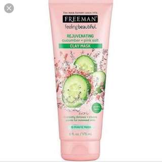 Freeman Rejuvenating Cucumber + Pink Salt Clay Mask 175ml