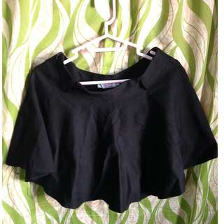 Black Skater Skirt With Inner Shorts