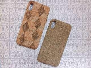 全新 水松木質感 復古風 iphone x 手機殼case