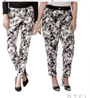 Forever21 floral print pants trousers