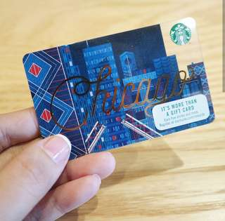 CHICAGO Starbucks Card Collectible