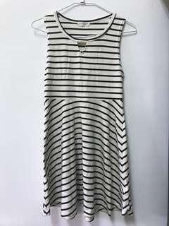🚚 條紋連身短裙