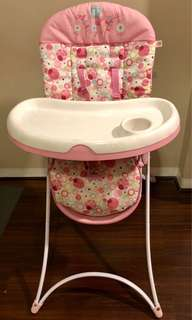 Pretty in pink high chair