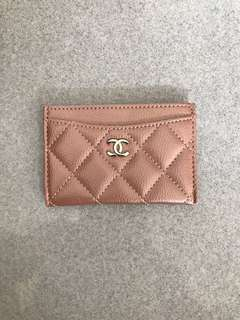 Chanel VIP gift rosegold card holder