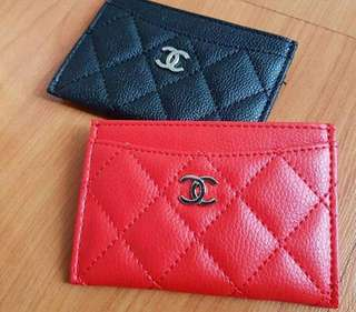 Chanel VIP gift cardholder caviar