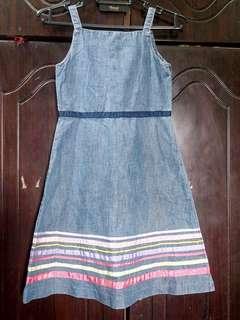 Authentic Gap Denim Dress 6-7y #ramadan50