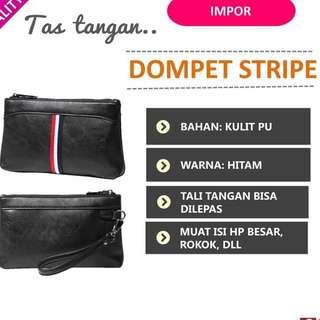 Handbag Pria Tas Tangan Korea Import Original STRIPE