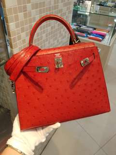 Hermes kelly 25 ostrich