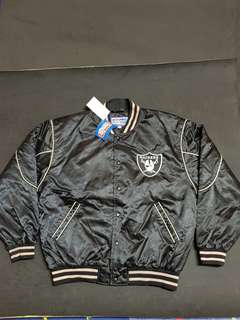 vintage 90s nba nfl nhl mlb 老品 古著 raiders 突襲 棒球 外套