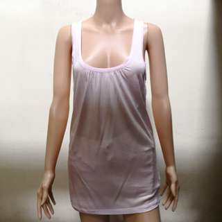 Ted Baker Pink Sheer Tank Top