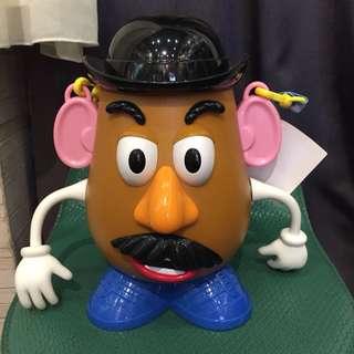 🚚 日本帶回迪士尼蛋頭先生爆米花桶