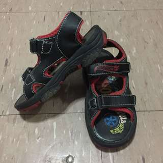 Hotwheels Black and Red Sandals for Kids
